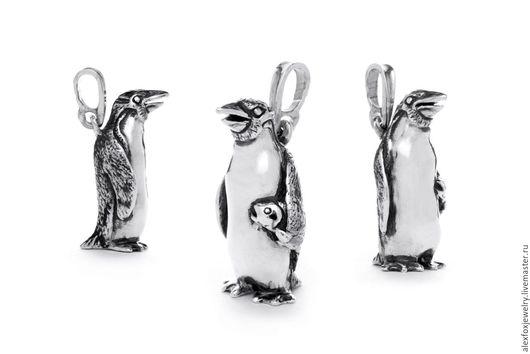 Кулоны, подвески ручной работы. Ярмарка Мастеров - ручная работа. Купить Кулон Пингвин. Handmade. Серебряный, рыбка, серебро