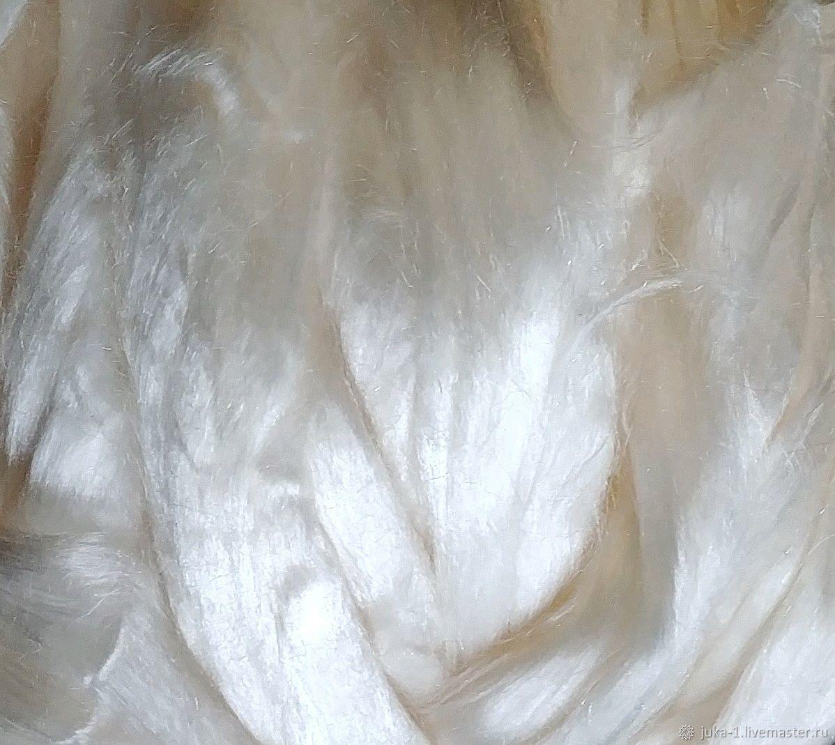 Тенсель белый 50 гр, Волокна, Дрезден,  Фото №1