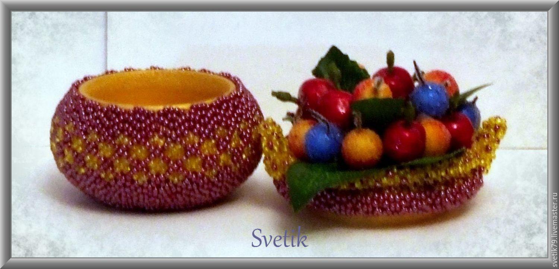 "шкатулка ""корзинка с ягодами"""