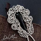 Украшения handmade. Livemaster - original item Hairpin with agate melchior for hair