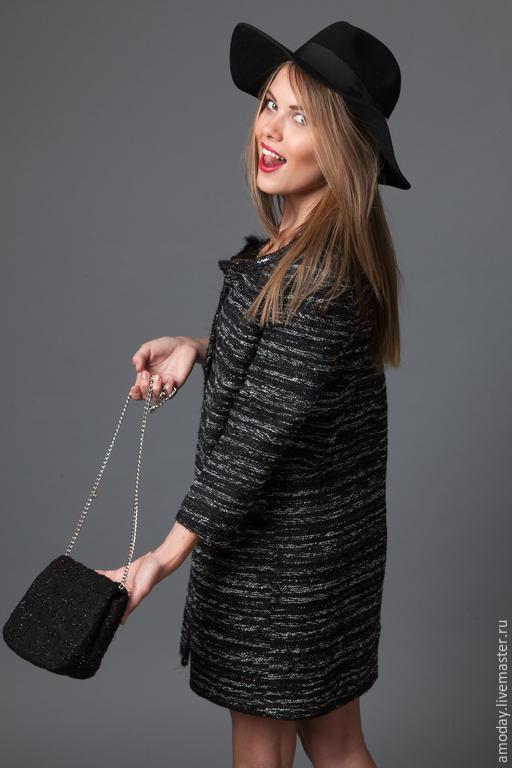 роскошное пальто AMODAY из  оригинальной ткани пальто легкое пальто на выход пальто красивое пальто с бахромой пальто на подкладке с рукавами пальто роскошное пальто дорогое