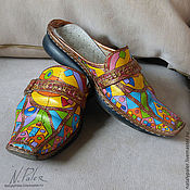 Обувь ручной работы handmade. Livemaster - original item Painting on shoes. Sabo