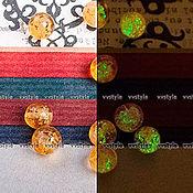 Материалы для творчества ручной работы. Ярмарка Мастеров - ручная работа Светящиеся Бусины 10шт стеклянные круг Янтарная 10мм (b05750-103). Handmade.