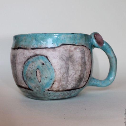 Кружки и чашки ручной работы. Ярмарка Мастеров - ручная работа. Купить Большая кружка в стиле Раку. Handmade. Разноцветный, раку