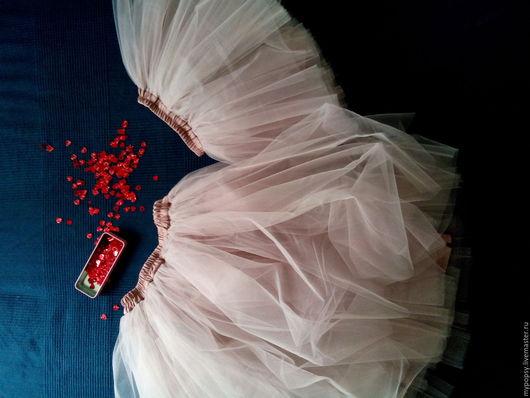 Юбки ручной работы. Ярмарка Мастеров - ручная работа. Купить юбка-пачка. Handmade. Бежевый, юбка для девочки, юбка из фатина