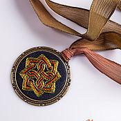 Украшения handmade. Livemaster - original item Embroidered pendant Celtica 3. Handmade.