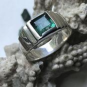 Украшения handmade. Livemaster - original item Emerald 1,59 ct Men`s ring with beautiful Emerald, handmade. Handmade.