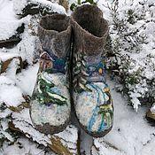 Обувь ручной работы handmade. Livemaster - original item Valenki chuni Winter evening. Handmade.