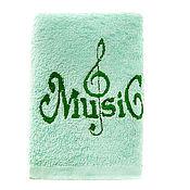 """Для дома и интерьера ручной работы. Ярмарка Мастеров - ручная работа Полотенце со скрипичным ключом """"Music"""". Handmade."""