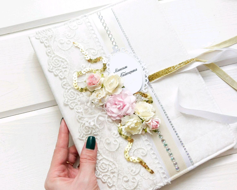 как оформить открытку на свадьбу в папку водного