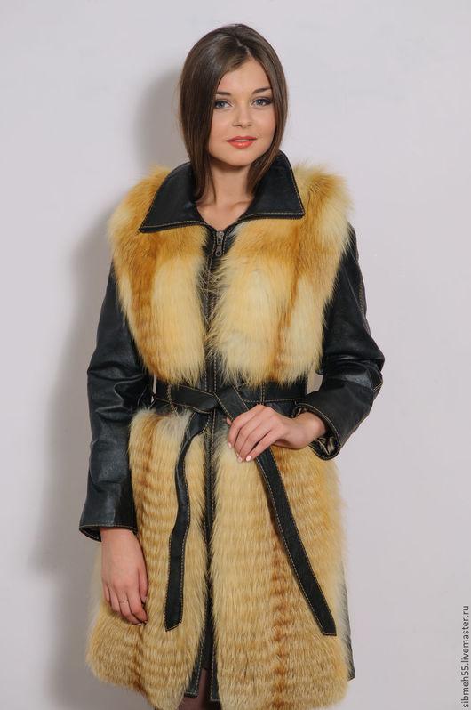 Верхняя одежда ручной работы. Ярмарка Мастеров - ручная работа. Купить Куртка из меха лисы. Handmade. Рыжий, шубка