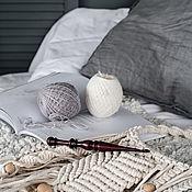 Материалы для творчества handmade. Livemaster - original item 6mm Cedar Wood Knitting Hook. K279. Handmade.