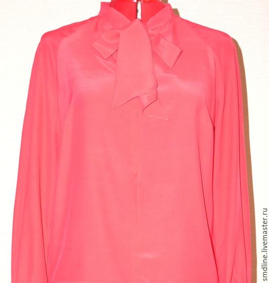 Блузки ручной работы. Ярмарка Мастеров - ручная работа. Купить Блузка коралловая из натурального шелка. Handmade. Коралловый, блузка шелковая