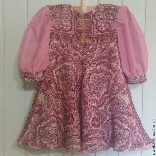 Одежда для девочек, ручной работы. Ярмарка Мастеров - ручная работа. Купить Платье Русские узоры. Handmade. Платье для девочки