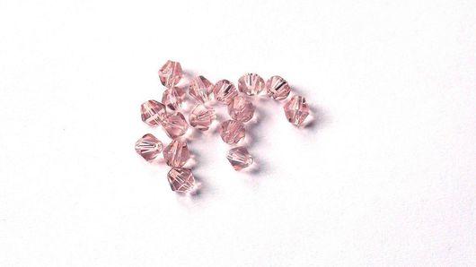 Для украшений ручной работы. Ярмарка Мастеров - ручная работа. Купить Стеклянные бусины Биноконусы розовые. Handmade. Стеклянные бусины
