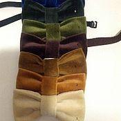 Галстуки ручной работы. Ярмарка Мастеров - ручная работа Галстук бабочка из бархата. Handmade.
