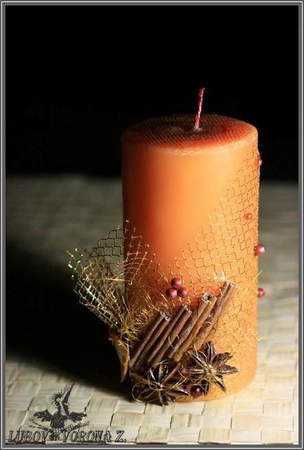 """Свечи ручной работы. Ярмарка Мастеров - ручная работа. Купить Свеча """"Новогодние лакомства"""". Handmade. Оранжевый, для дома, корица, специи"""