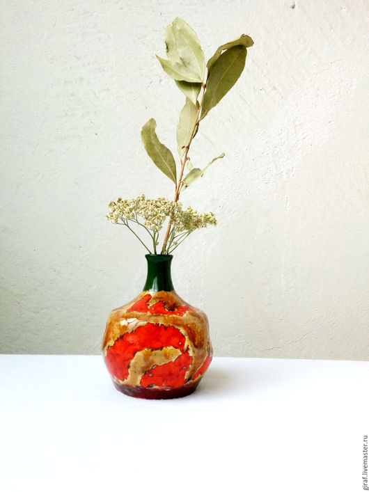 """Вазы ручной работы. Ярмарка Мастеров - ручная работа. Купить Ваза """"Осень"""". Керамика.. Handmade. Ярко-красный, люся люсич"""