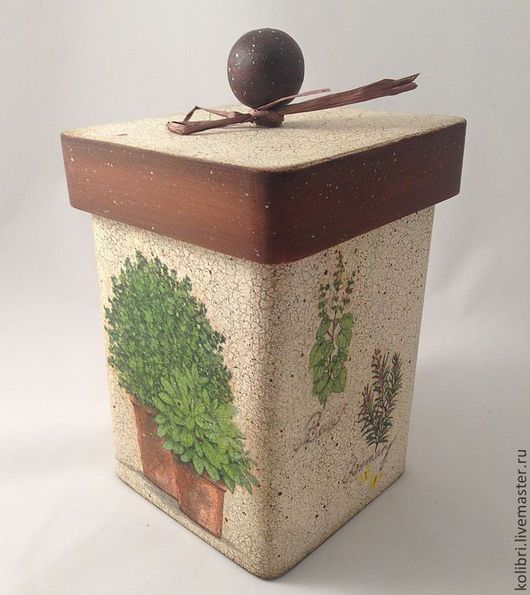 """Корзины, коробы ручной работы. Ярмарка Мастеров - ручная работа. Купить Короб """"Травы"""". Handmade. Короб для хранения, кухня, дерево"""