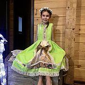 """Одежда ручной работы. Ярмарка Мастеров - ручная работа детское платье""""Птицы певчие"""". Handmade."""