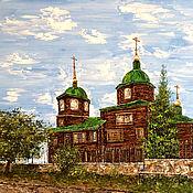 Картины и панно handmade. Livemaster - original item Oil painting of My town. Museum of Decembrists Church. Handmade.
