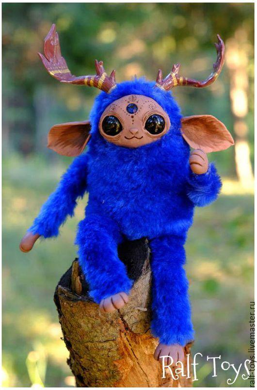 Сказочные персонажи ручной работы. Ярмарка Мастеров - ручная работа. Купить Индиго Лесной дух Сказочное создание Волшебное существо. Handmade.