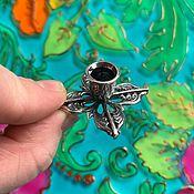 Для дома и интерьера handmade. Livemaster - original item @ Easter Gift. Candle holder for thin candles. Silver plated.. Handmade.
