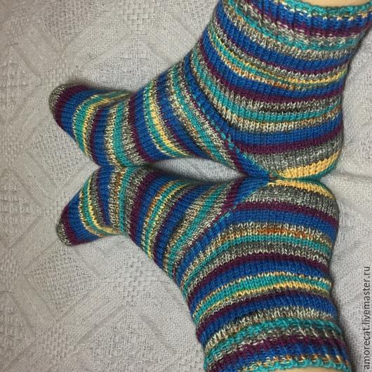 Носки, Чулки ручной работы. Ярмарка Мастеров - ручная работа. Купить вязанные носочки. Handmade. Разноцветный, подарок, подарок женщине