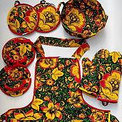 """Для дома и интерьера ручной работы. Ярмарка Мастеров - ручная работа Комплект для кухни """"Хохлома"""". Handmade."""