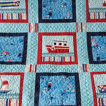 Текстиль ручной работы. Ярмарка Мастеров - ручная работа Покрывало лоскутное Гавань. Handmade.