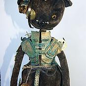 Куклы и игрушки ручной работы. Ярмарка Мастеров - ручная работа Мишка-девочка в стиле стимпанк.. Handmade.