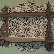 Для дома и интерьера handmade. Livemaster - original item Carved shelf durable. Handmade.