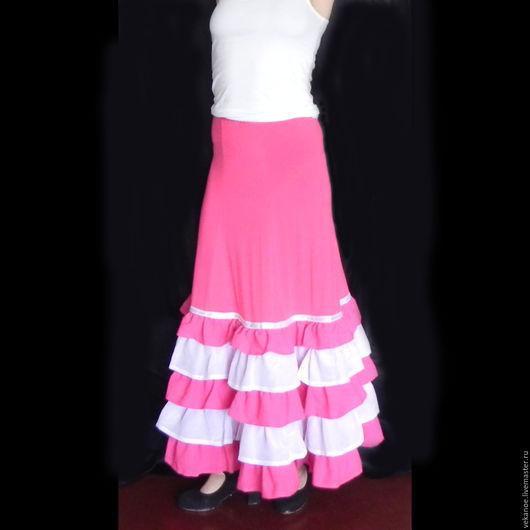 Танцевальные костюмы ручной работы. Ярмарка Мастеров - ручная работа. Купить Юбка для Фламенко. Handmade. Фуксия, юбка для танцев, костюм