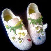 Обувь ручной работы. Ярмарка Мастеров - ручная работа домашние башмачки,,Ромашки``. Handmade.