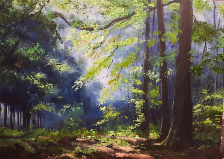 """Картина маслом """"Солнце в лесу"""", Картины, Нижний Новгород,  Фото №1"""