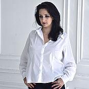 Одежда ручной работы. Ярмарка Мастеров - ручная работа Белая блузка с кружевом. Handmade.