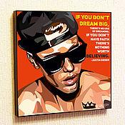 Картины и панно handmade. Livemaster - original item Painting poster Pop Art Justin Bieber. Handmade.
