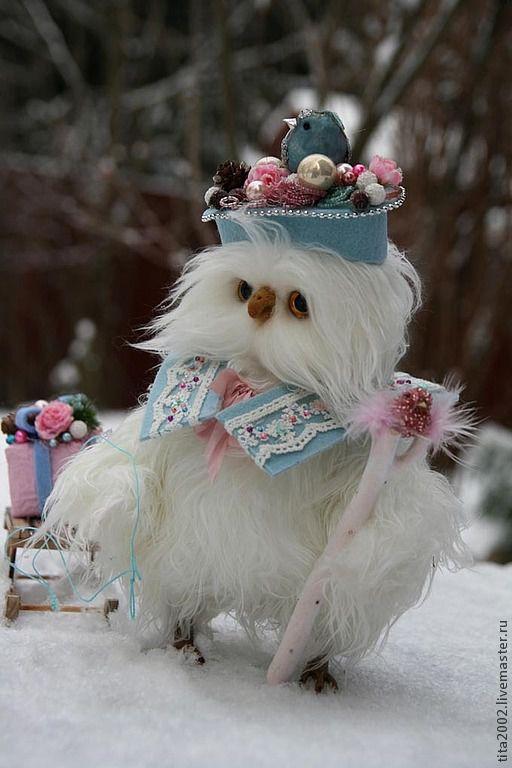 Мишки Тедди ручной работы. Ярмарка Мастеров - ручная работа. Купить Примадонна снега. Handmade. Белый, подарок на новый год, проволока