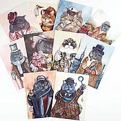Открытки handmade. Livemaster - original item Posters, prints of paintings by Povetskay Tatiana. Handmade.
