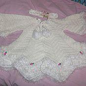 Работы для детей, ручной работы. Ярмарка Мастеров - ручная работа белое платье с диадемой. Handmade.