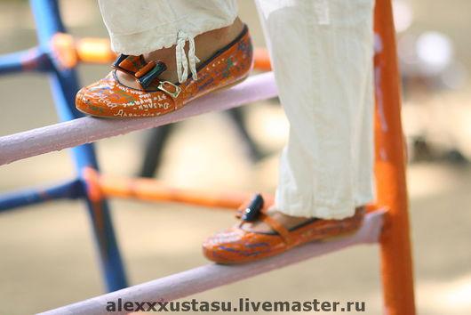 Обувь ручной работы. Ярмарка Мастеров - ручная работа. Купить Оранжевые балетки с сумочкой. Handmade. Лаковые балетки, оранжевый