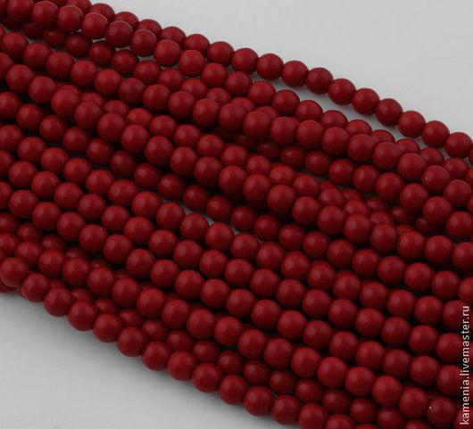 Для украшений ручной работы. Ярмарка Мастеров - ручная работа. Купить Говлит красный 6 мм. Бусина шар.. Handmade.