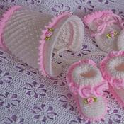 """Комплекты одежды ручной работы. Ярмарка Мастеров - ручная работа Комплект на выписку  для новорожденного """"маленькая принцесса"""". Handmade."""