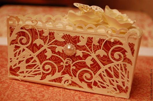 """Персональные подарки ручной работы. Ярмарка Мастеров - ручная работа. Купить коробочка """"кусочек торта"""". Handmade. Коробочка, коробочка для мелочей"""
