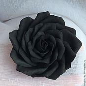 Заколки ручной работы. Ярмарка Мастеров - ручная работа Черная роза из фоамирана -Темная ночь. Handmade.