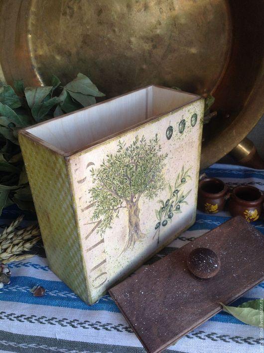 Кухня ручной работы. Ярмарка Мастеров - ручная работа. Купить Короб для сыпучих продуктов Оливковое дерево. Handmade. Оливковый