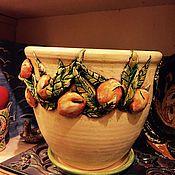 Для дома и интерьера ручной работы. Ярмарка Мастеров - ручная работа Цветочный горшок. Handmade.