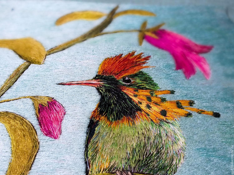 колибри -схема вышивки
