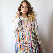 Одежда handmade. Livemaster - original item Vest felted Melody (large size). Handmade.
