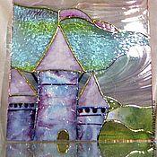 Для дома и интерьера ручной работы. Ярмарка Мастеров - ручная работа Солнечный замок-витражное окно в детской. Handmade.